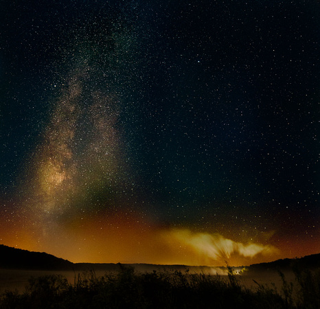 Composite of several time exposures with the 14mm at Yellowstone Lake State Park in Wisconsin.