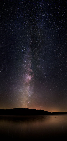 Milky Way over Yellowstone Lake, Wisconsin