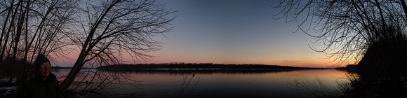 Wisconsin River Panorama, Ferry Bluff